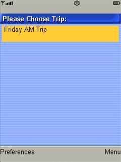 Select a trip