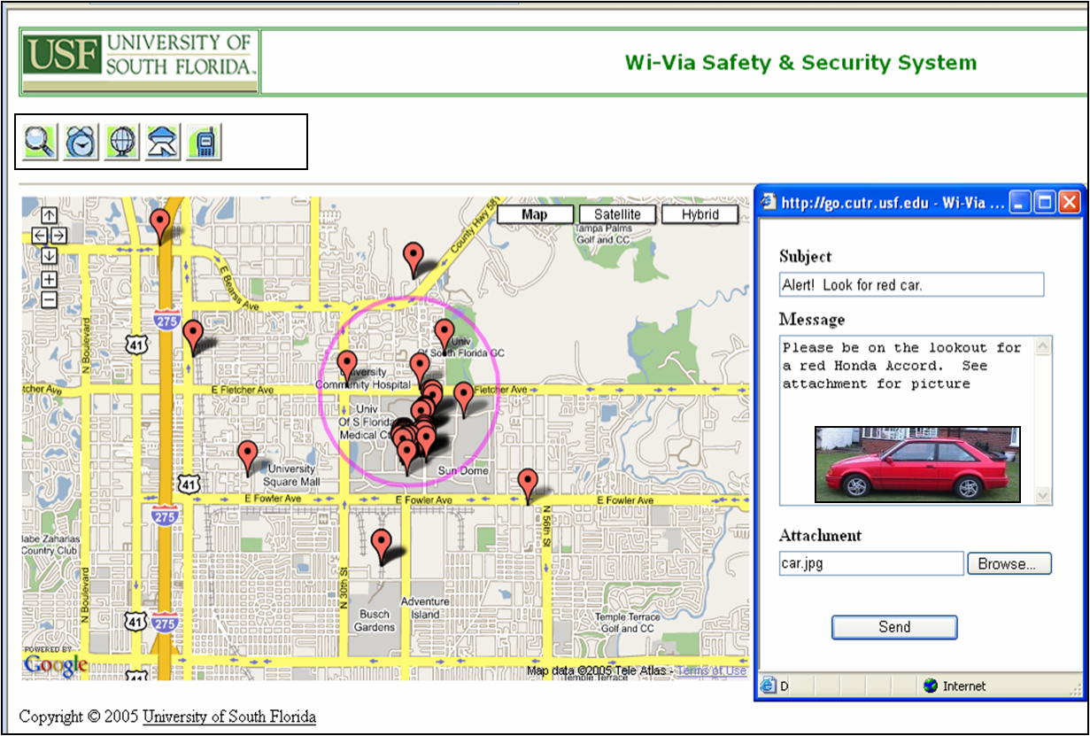 Enhancing Transportation Safety And Security Via Scalable Location - Usf location map